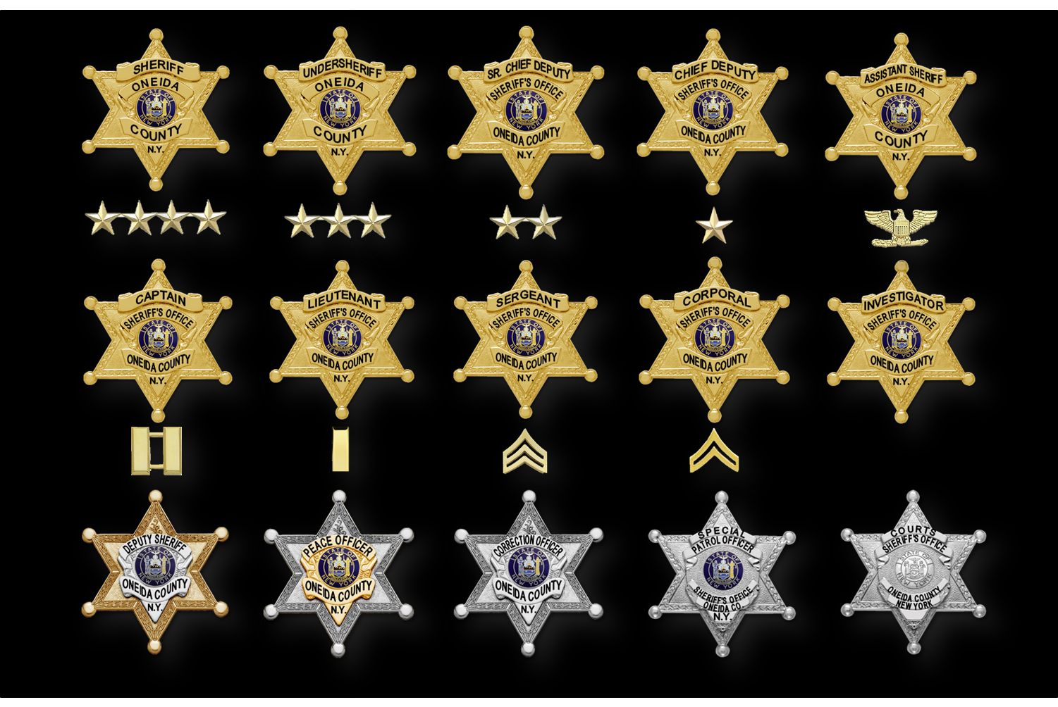 Badges and rank insignia